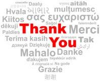 Thank you heart word cloud vector