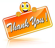 Vector thank you icon Stock Image