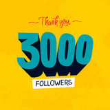 Vector thanks design template for network friends and followers. Thank you followers card. Image for Social Networks. Web us