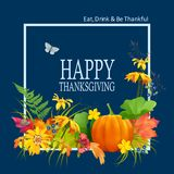 Vector Thanksgiving Card Stock Photography