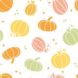 Vector thanksgiving colorful pumpkins silhouettes Royalty Free Stock Image