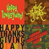 Vector thanksgiving decoration lettering postcard invitation cards design harvest november background illustration Stock Images