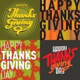 Vector thanksgiving decoration lettering postcard invitation cards design harvest november background illustration Stock Photography