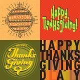 Vector thanksgiving decoration lettering postcard invitation cards design harvest november background illustration Stock Photo
