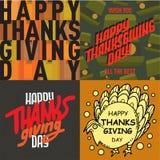Vector thanksgiving decoration lettering postcard invitation cards design harvest november background illustration Stock Image