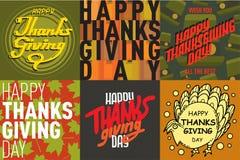 Vector thanksgiving decoration lettering postcard invitation cards design harvest november background illustration Royalty Free Stock Photos