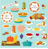Vector thanksgiving food clip art Royalty Free Stock Photos