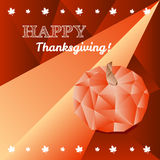Vector Thanksgiving greeting card in trendy Royalty Free Stock Photo