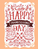 Vector thanksgiving illustration with roasted turkey, vegetables Royalty Free Stock Photo