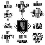 Vector thanksgiving inscription Royalty Free Stock Image