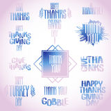Vector thanksgiving inscription Royalty Free Stock Images