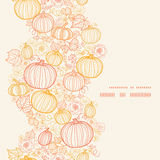 Vector thanksgiving line art pumkins vertical Royalty Free Stock Images