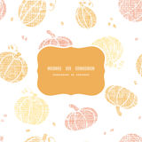 Vector thanksgiving pumpkins textile frame Stock Photos