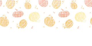 Vector thanksgiving pumpkins textile horizontal Royalty Free Stock Photos