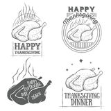 Vector thanksgiving vintage logotypes set Stock Photo