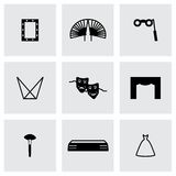 Vector Theatre icon set Royalty Free Stock Photography