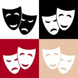Vector theatrical masks icon. Stock vector illustration Royalty Free Stock Photo