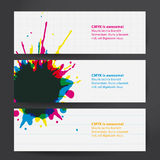 Vector thematic template.  Aquarell drop on paper. Royalty Free Stock Photography