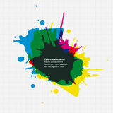 Vector thematic template.  Aquarell drop on paper. Royalty Free Stock Image