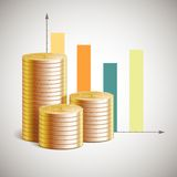 Vector theme of business with cents Stock Image