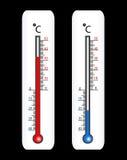 Vector thermometer royalty-vrije illustratie