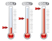 Vector thermometers Stock Images