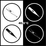 Vector thermometers icons Stock Photos