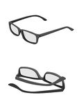 Vector Thick-framed glasses Royalty Free Stock Photo