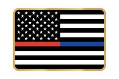 Vector American Thin Line Flag. Vector Thin Blue Line & Red Line Police & Fire respect and honor law enforcement Flag Royalty Free Stock Image