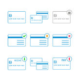 Vector thin credit cards icon Royalty Free Stock Photo