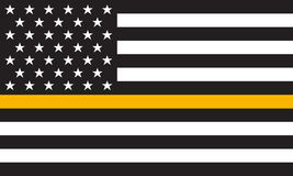 Vector Thin Gold Line Distress Flag Stock Photo