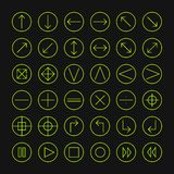 Vector thin icons set for web and mobile. Line Royalty Free Stock Images