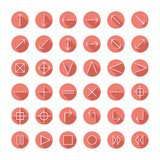 Vector thin icons set for web and mobile. Line Stock Photos