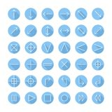Vector thin icons set for web and mobile. Line Royalty Free Stock Image