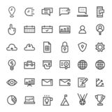 Vector thin line business and commercial icon set stock illustration