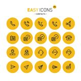 Easy icons 27c Contacts. Vector thin line flat design icons set for contact theme vector illustration