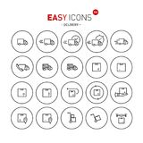 Easy icons 41b Internet earnings. Vector thin line flat design icons set for e-commerce and online earnings theme Royalty Free Stock Images