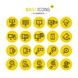 Easy icons 41c Internet earnings. Vector thin line flat design icons set for e-commerce and online earnings theme Stock Photo