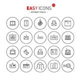 Easy icons 51b Intetnet fraud. Vector thin line flat design icons set for internet fraud theme Vector Illustration