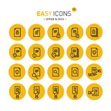 Easy icons 17c Docs. Vector thin line flat design icons set for office and document themes stock illustration