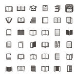 Vector thin line icons book on white background Stock Photos