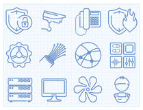 Vector thin line icons set Stock Photos