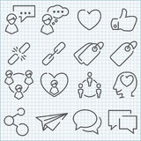 Vector thin line icons set Royalty Free Stock Photography