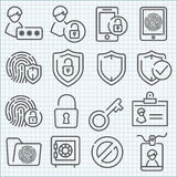 Vector thin line icons set Royalty Free Stock Images