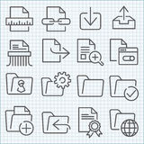 Vector thin line icons set Royalty Free Stock Photos