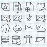 Vector thin line icons set Stock Photography