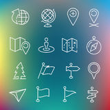 Vector thin line icons set Stock Image