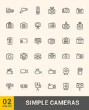 Vector thin photo and video icons design set. Modern simple line icons. Ultra thin icons on white background. Line art. Set 2 Royalty Free Stock Image