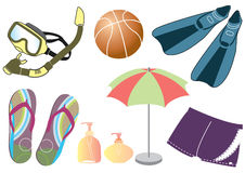 Vector things for summer holiday Royalty Free Stock Images