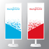 Vector of three banners abstract headers with blue red recta. Vector set of three banners abstract headers with blue red rectangle square vector illustration